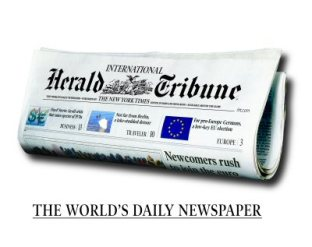 Thank you International Herald Tribune for donating stationery supplies to all the finalists and weekend edition of the paper to the parents.
